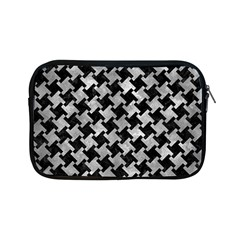 Houndstooth2 Black Marble & Gray Metal 2 Apple Ipad Mini Zipper Cases