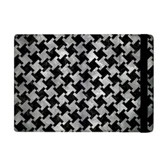 Houndstooth2 Black Marble & Gray Metal 2 Ipad Mini 2 Flip Cases
