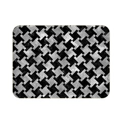 Houndstooth2 Black Marble & Gray Metal 2 Double Sided Flano Blanket (mini)