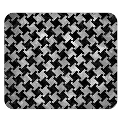 Houndstooth2 Black Marble & Gray Metal 2 Double Sided Flano Blanket (small)