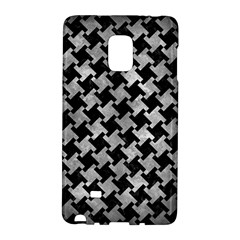 Houndstooth2 Black Marble & Gray Metal 2 Galaxy Note Edge