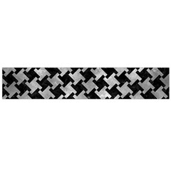 Houndstooth2 Black Marble & Gray Metal 2 Flano Scarf (large)