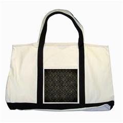 Hexagon1 Black Marble & Gray Metal 2 Two Tone Tote Bag