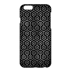 Hexagon1 Black Marble & Gray Metal 2 Apple Iphone 6 Plus/6s Plus Hardshell Case