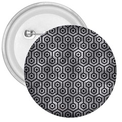 Hexagon1 Black Marble & Gray Metal 2 (r) 3  Buttons