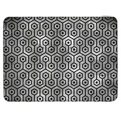 Hexagon1 Black Marble & Gray Metal 2 (r) Samsung Galaxy Tab 7  P1000 Flip Case