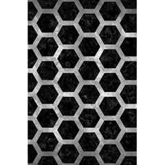 Hexagon2 Black Marble & Gray Metal 2 5 5  X 8 5  Notebooks