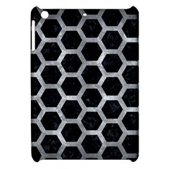 Hexagon2 Black Marble & Gray Metal 2 Apple Ipad Mini Hardshell Case