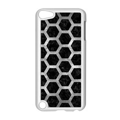 Hexagon2 Black Marble & Gray Metal 2 Apple Ipod Touch 5 Case (white)