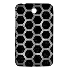 Hexagon2 Black Marble & Gray Metal 2 Samsung Galaxy Tab 3 (7 ) P3200 Hardshell Case