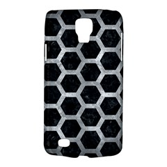 Hexagon2 Black Marble & Gray Metal 2 Galaxy S4 Active