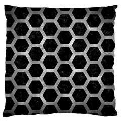 Hexagon2 Black Marble & Gray Metal 2 Standard Flano Cushion Case (two Sides)