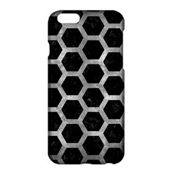 Hexagon2 Black Marble & Gray Metal 2 Apple Iphone 6 Plus/6s Plus Hardshell Case