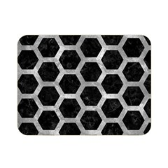 Hexagon2 Black Marble & Gray Metal 2 Double Sided Flano Blanket (mini)