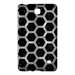 Hexagon2 Black Marble & Gray Metal 2 Samsung Galaxy Tab 4 (7 ) Hardshell Case