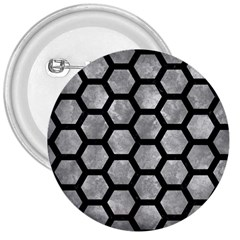 Hexagon2 Black Marble & Gray Metal 2 (r) 3  Buttons