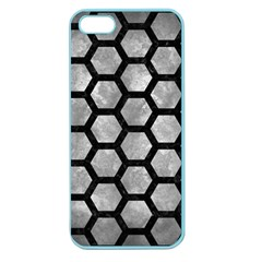 Hexagon2 Black Marble & Gray Metal 2 (r) Apple Seamless Iphone 5 Case (color)