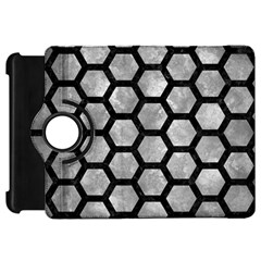 Hexagon2 Black Marble & Gray Metal 2 (r) Kindle Fire Hd 7