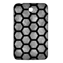 Hexagon2 Black Marble & Gray Metal 2 (r) Samsung Galaxy Tab 3 (7 ) P3200 Hardshell Case