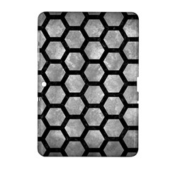 Hexagon2 Black Marble & Gray Metal 2 (r) Samsung Galaxy Tab 2 (10 1 ) P5100 Hardshell Case