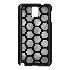 Hexagon2 Black Marble & Gray Metal 2 (r) Samsung Galaxy Note 3 N9005 Case (black)
