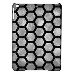 Hexagon2 Black Marble & Gray Metal 2 (r) Ipad Air Hardshell Cases