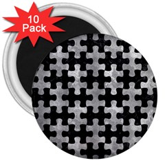 Puzzle1 Black Marble & Gray Metal 2 3  Magnets (10 Pack)