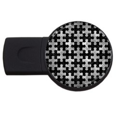 Puzzle1 Black Marble & Gray Metal 2 Usb Flash Drive Round (2 Gb)