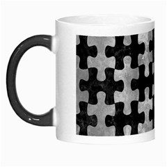 Puzzle1 Black Marble & Gray Metal 2 Morph Mugs
