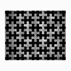 Puzzle1 Black Marble & Gray Metal 2 Small Glasses Cloth