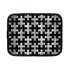 Puzzle1 Black Marble & Gray Metal 2 Netbook Case (small)