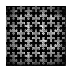 Puzzle1 Black Marble & Gray Metal 2 Face Towel