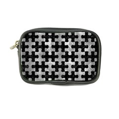 Puzzle1 Black Marble & Gray Metal 2 Coin Purse