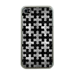 Puzzle1 Black Marble & Gray Metal 2 Apple Iphone 4 Case (clear)