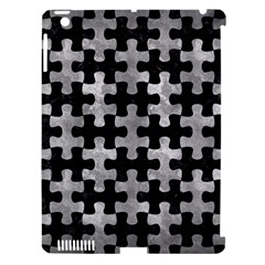 Puzzle1 Black Marble & Gray Metal 2 Apple Ipad 3/4 Hardshell Case (compatible With Smart Cover)