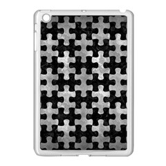 Puzzle1 Black Marble & Gray Metal 2 Apple Ipad Mini Case (white)