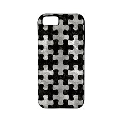 Puzzle1 Black Marble & Gray Metal 2 Apple Iphone 5 Classic Hardshell Case (pc+silicone)