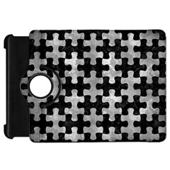 Puzzle1 Black Marble & Gray Metal 2 Kindle Fire Hd 7