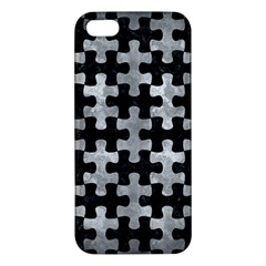 Puzzle1 Black Marble & Gray Metal 2 Iphone 5s/ Se Premium Hardshell Case