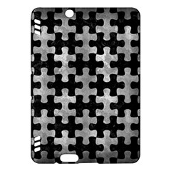 Puzzle1 Black Marble & Gray Metal 2 Kindle Fire Hdx Hardshell Case