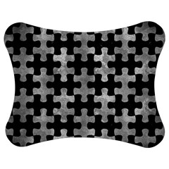 Puzzle1 Black Marble & Gray Metal 2 Jigsaw Puzzle Photo Stand (bow)