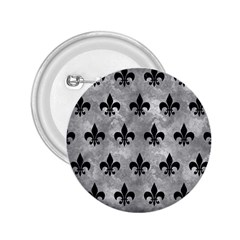 Royal1 Black Marble & Gray Metal 2 2 25  Buttons