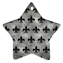 Royal1 Black Marble & Gray Metal 2 Ornament (star)