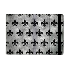 Royal1 Black Marble & Gray Metal 2 Apple Ipad Mini Flip Case