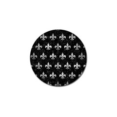 Royal1 Black Marble & Gray Metal 2 (r) Golf Ball Marker (4 Pack)