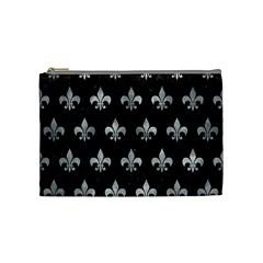 Royal1 Black Marble & Gray Metal 2 (r) Cosmetic Bag (medium)