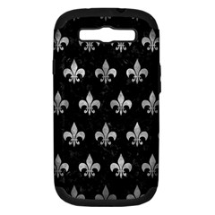 Royal1 Black Marble & Gray Metal 2 (r) Samsung Galaxy S Iii Hardshell Case (pc+silicone)