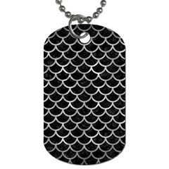Scales1 Black Marble & Gray Metal 2 Dog Tag (one Side)