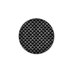 Scales1 Black Marble & Gray Metal 2 Golf Ball Marker (10 Pack)