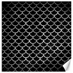 Scales1 Black Marble & Gray Metal 2 Canvas 20  X 20